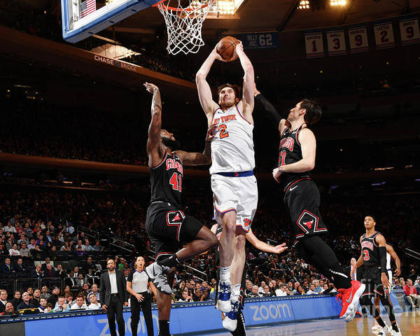 Nba Pro Basketball Poster featuring the photograph Chicago Bulls V New York Knicks by Jesse D. Garrabrant
