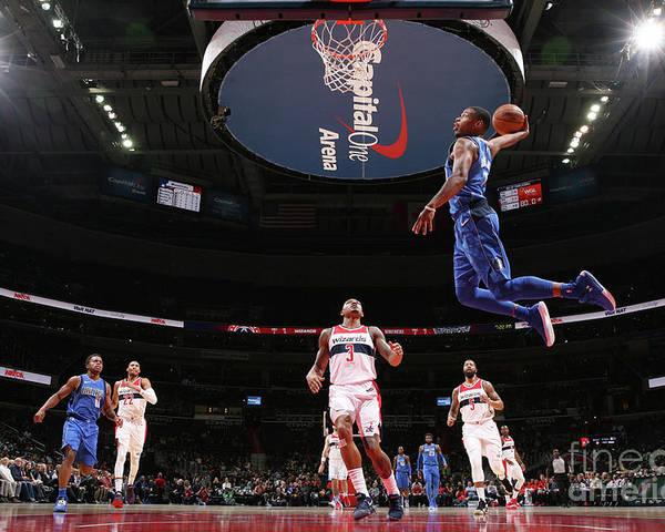 Nba Pro Basketball Poster featuring the photograph Dallas Mavericks V Washington Wizards by Ned Dishman