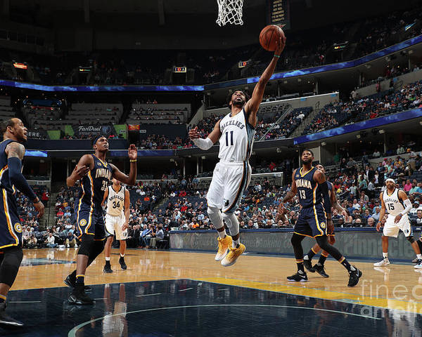 Nba Pro Basketball Poster featuring the photograph Indiana Pacers V Memphis Grizzlies by Joe Murphy