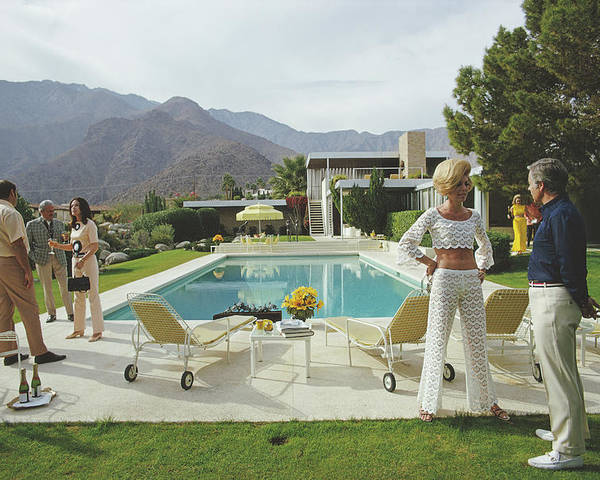 People Poster featuring the photograph Kaufmann Desert House by Slim Aarons