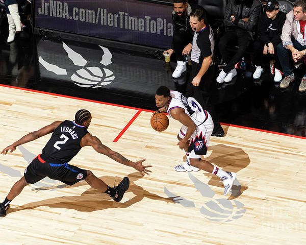 Nba Pro Basketball Poster featuring the photograph La Clippers V Toronto Raptors by Mark Blinch