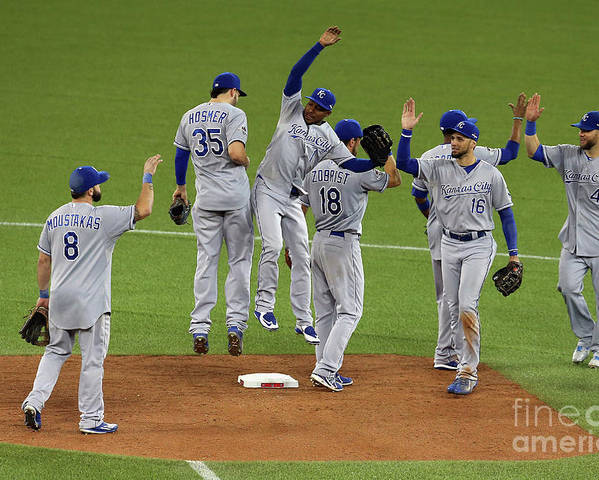 American League Baseball Poster featuring the photograph League Championship - Kansas City by Vaughn Ridley
