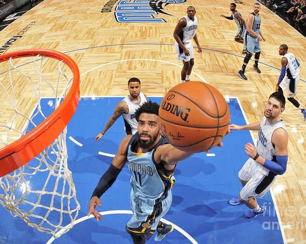 Nba Pro Basketball Poster featuring the photograph Memphis Grizzlies V Orlando Magic by Fernando Medina