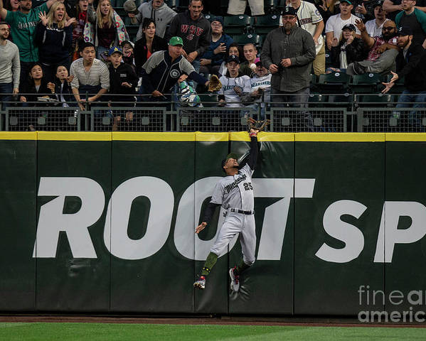 People Poster featuring the photograph Minnesota Twins V Seattle Mariners by Stephen Brashear