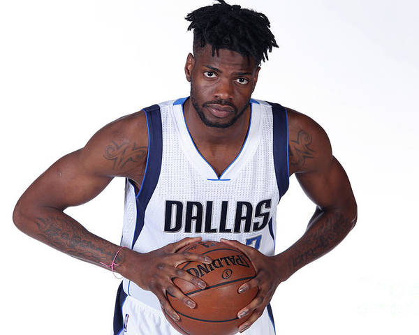 Nba Pro Basketball Poster featuring the photograph Nerlens Noel Dallas Mavericks Portraits by Glenn James