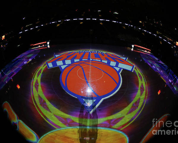 Nba Pro Basketball Poster featuring the photograph Sacramento Kings V New York Knicks by Nathaniel S. Butler