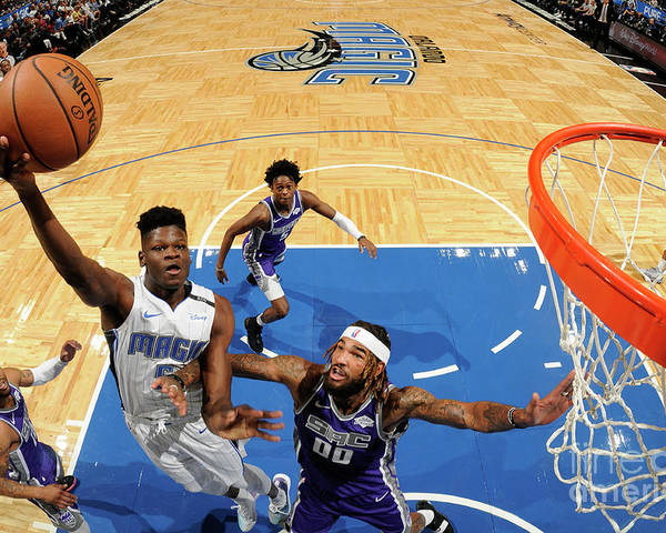 Nba Pro Basketball Poster featuring the photograph Sacramento Kings V Orlando Magic by Fernando Medina