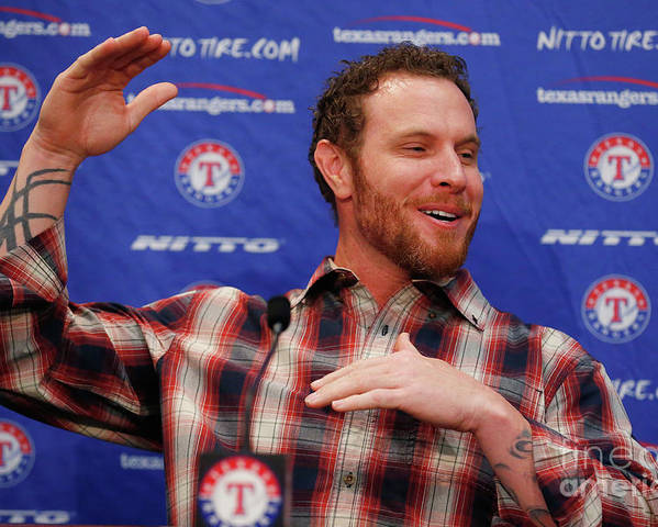 People Poster featuring the photograph Texas Rangers Introduce Josh Hamilton by Tom Pennington