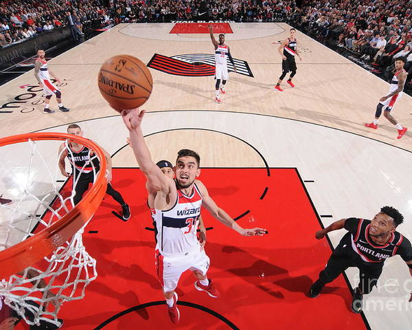 Nba Pro Basketball Poster featuring the photograph Washington Wizards V Portland Trail by Sam Forencich
