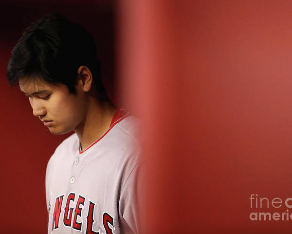 People Poster featuring the photograph Los Angeles Angels Of Anaheim V Arizona by Christian Petersen