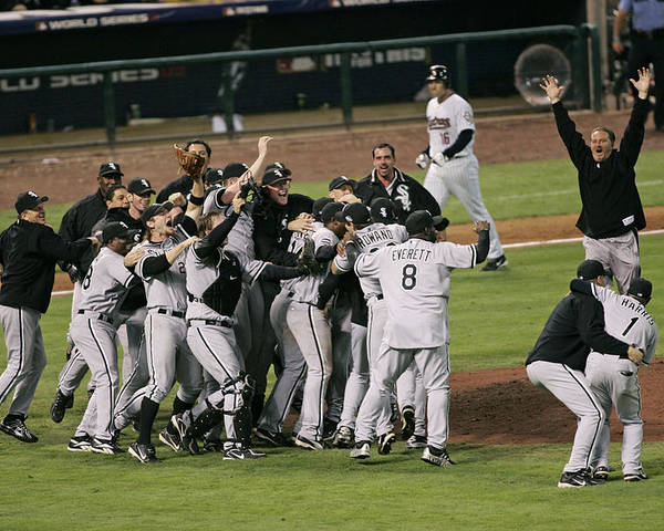 People Poster featuring the photograph 2005 World Series - Chicago White Sox by G. N. Lowrance