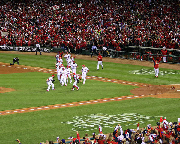 St. Louis Cardinals Poster featuring the photograph 2011 World Series Game 7 - Texas by Dilip Vishwanat