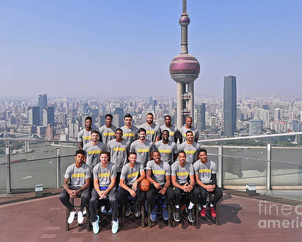Event Poster featuring the photograph 2017 Nba Global Games - China by Noah Graham