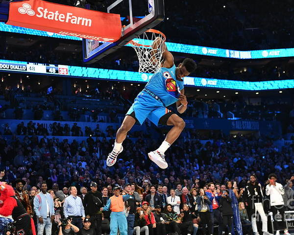 Nba Pro Basketball Poster featuring the photograph 2019 At&t Slam Dunk by Jesse D. Garrabrant