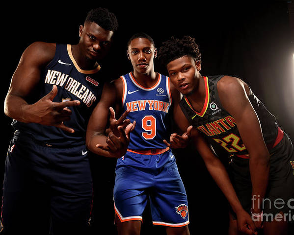 Nba Pro Basketball Poster featuring the photograph 2019 Nba Rookie Photo Shoot by Brian Babineau
