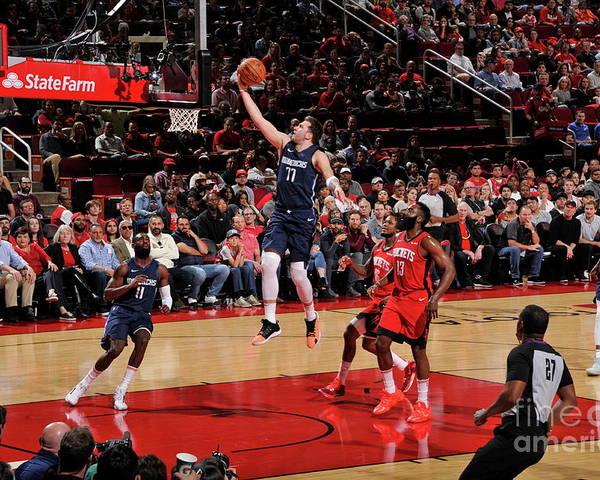 Nba Pro Basketball Poster featuring the photograph Dallas Mavericks V Houston Rockets by Bill Baptist