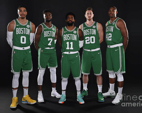 Media Day Poster featuring the photograph 2018-19 Boston Celtics Media Day by Brian Babineau