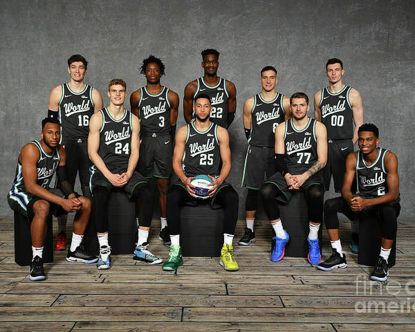 Nba Pro Basketball Poster featuring the photograph 2019 Mtn Dew Ice Rising Stars by Jesse D. Garrabrant