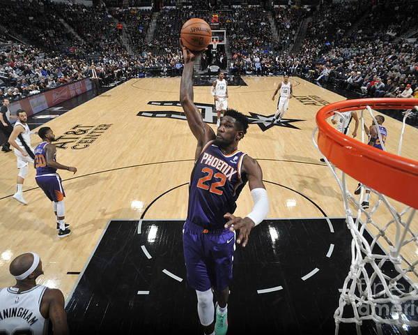 Nba Pro Basketball Poster featuring the photograph Phoenix Suns V San Antonio Spurs by Mark Sobhani