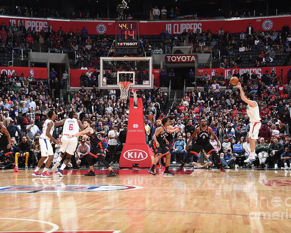 Nba Pro Basketball Poster featuring the photograph Toronto Raptors V La Clippers by Andrew D. Bernstein