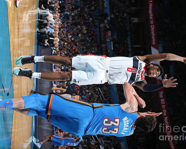 Nba Pro Basketball Poster featuring the photograph Washington Wizards V Oklahoma City by Zach Beeker
