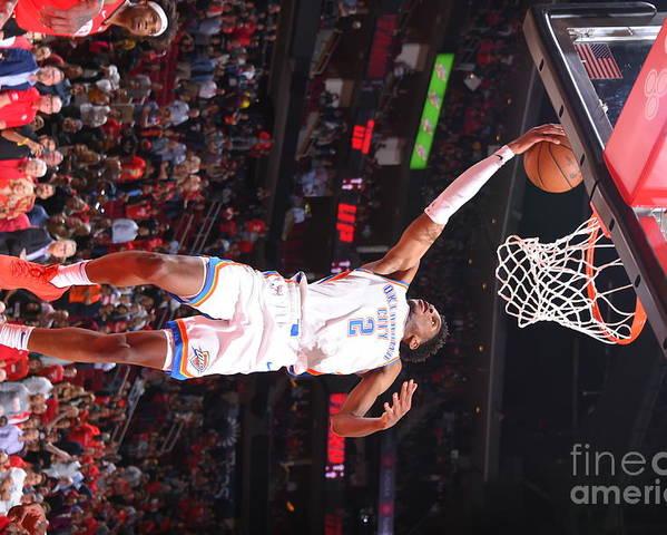 Nba Pro Basketball Poster featuring the photograph Oklahoma City Thunder V Houston Rockets by Bill Baptist