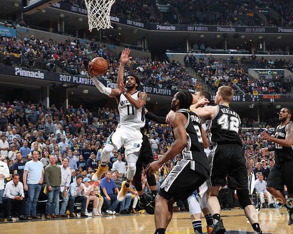 Playoffs Poster featuring the photograph San Antonio Spurs V Memphis Grizzlies - by Joe Murphy
