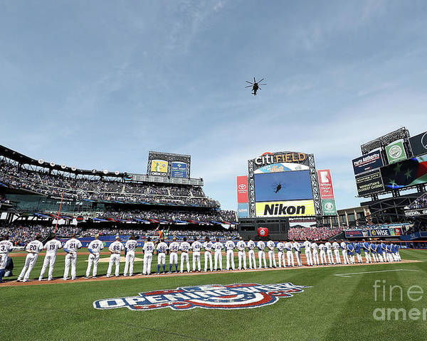 American League Baseball Poster featuring the photograph Atlanta Braves V New York Mets by Elsa