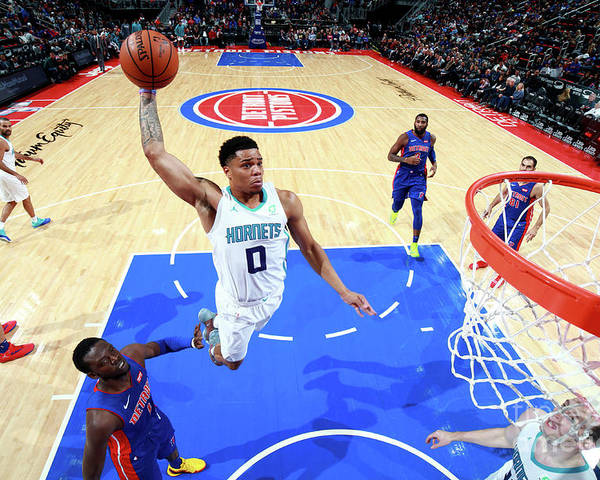 Nba Pro Basketball Poster featuring the photograph Charlotte Hornets V Detroit Pistons by Brian Sevald