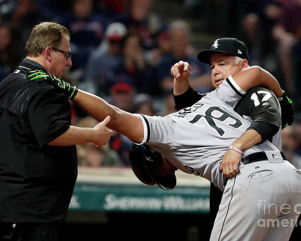 Three Quarter Length Poster featuring the photograph Chicago White Sox V Cleveland Indians by Justin K. Aller