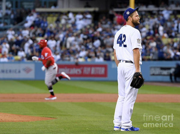 People Poster featuring the photograph Cincinnati Reds V Los Angeles Dodgers 4 by Harry How