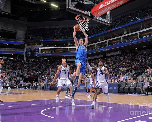Nba Pro Basketball Poster featuring the photograph Dallas Mavericks V Sacramento Kings by Rocky Widner