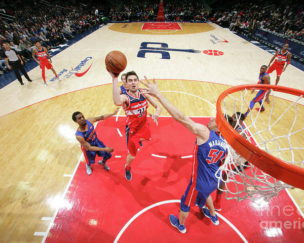 Nba Pro Basketball Poster featuring the photograph Detroit Pistons V Washington Wizards by Ned Dishman