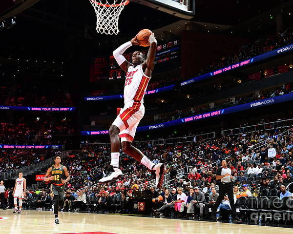 Atlanta Poster featuring the photograph Miami Heat V Atlanta Hawks by Scott Cunningham
