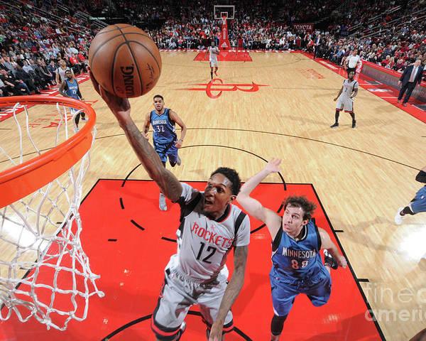 Nba Pro Basketball Poster featuring the photograph Minnesota Timberwolves V Houston Rockets by Bill Baptist