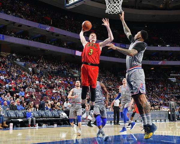 Nba Pro Basketball Poster featuring the photograph Atlanta Hawks V Philadelphia 76ers by Jesse D. Garrabrant