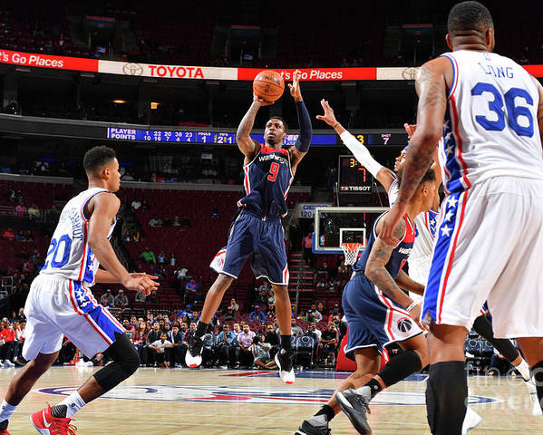 Nba Pro Basketball Poster featuring the photograph Washington Wizards V Philadelphia 76ers by Jesse D. Garrabrant