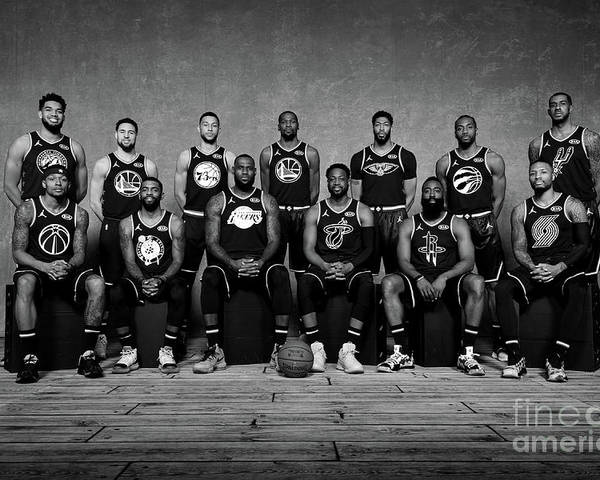 Nba Pro Basketball Poster featuring the photograph 2019 Nba All Star Portraits by Jesse D. Garrabrant