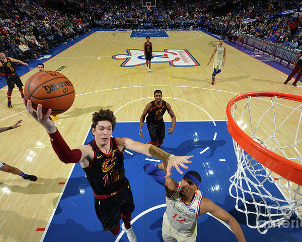 Nba Pro Basketball Poster featuring the photograph Cleveland Cavaliers V Philadelphia 76ers by Jesse D. Garrabrant