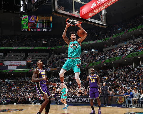 Nba Pro Basketball Poster featuring the photograph Los Angeles Lakers V Memphis Grizzlies by Joe Murphy