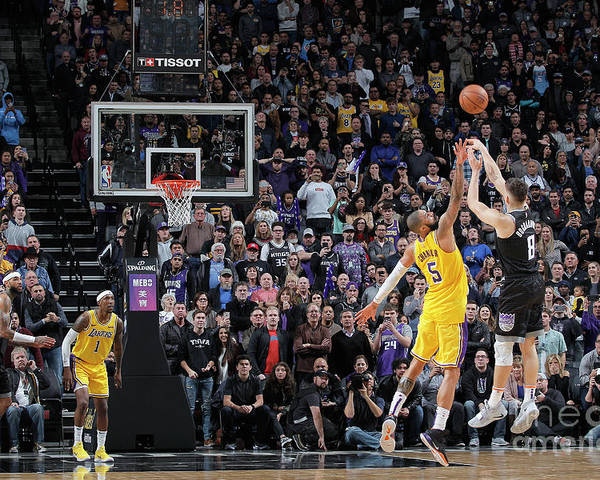Nba Pro Basketball Poster featuring the photograph Los Angeles Lakers V Sacramento Kings by Rocky Widner
