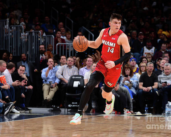 Tyler Herro Poster featuring the photograph Miami Heat V Denver Nuggets by Bart Young