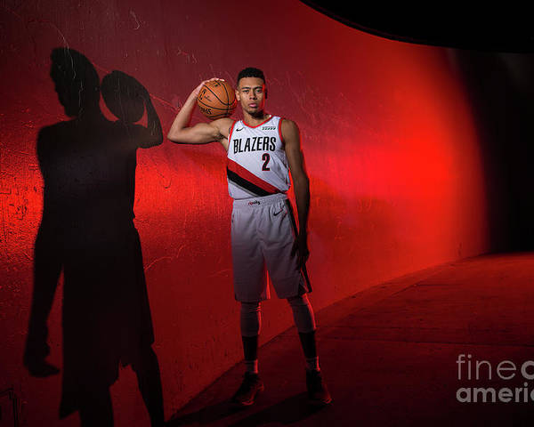 Media Day Poster featuring the photograph 2018-2019 Portland Trail Blazers Media by Sam Forencich