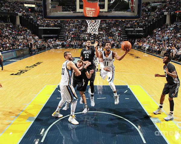 Nba Pro Basketball Poster featuring the photograph Minnesota Timberwolves V Memphis by Joe Murphy