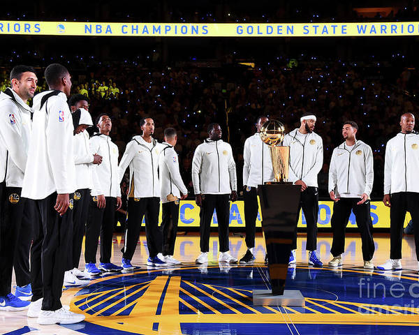 Nba Pro Basketball Poster featuring the photograph Houston Rockets V Golden State Warriors by Andrew D. Bernstein