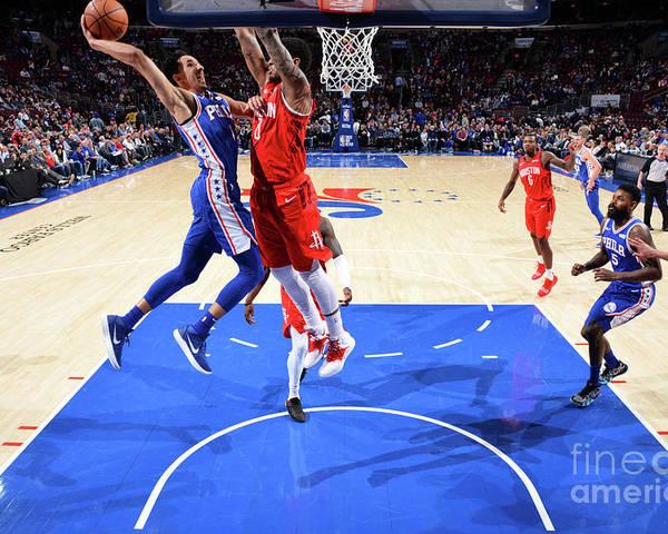 Nba Pro Basketball Poster featuring the photograph Houston Rockets V Philadelphia 76ers by Jesse D. Garrabrant