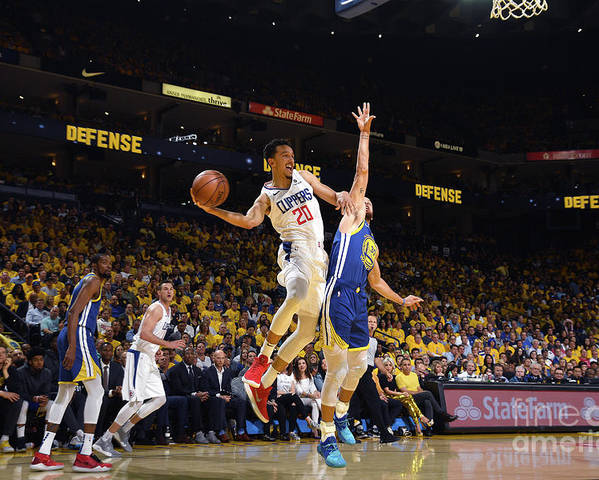 Playoffs Poster featuring the photograph La Clippers V Golden State Warriors - by Noah Graham