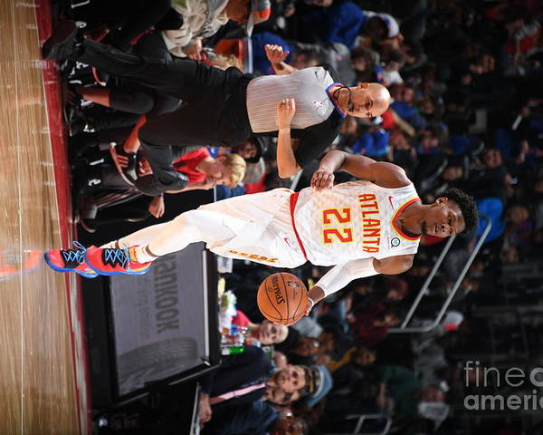 Nba Pro Basketball Poster featuring the photograph Atlanta Hawks V Detroit Pistons by Chris Schwegler