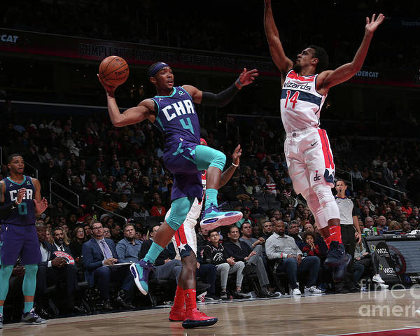 Nba Pro Basketball Poster featuring the photograph Charlotte Hornets V Washington Wizards by Ned Dishman