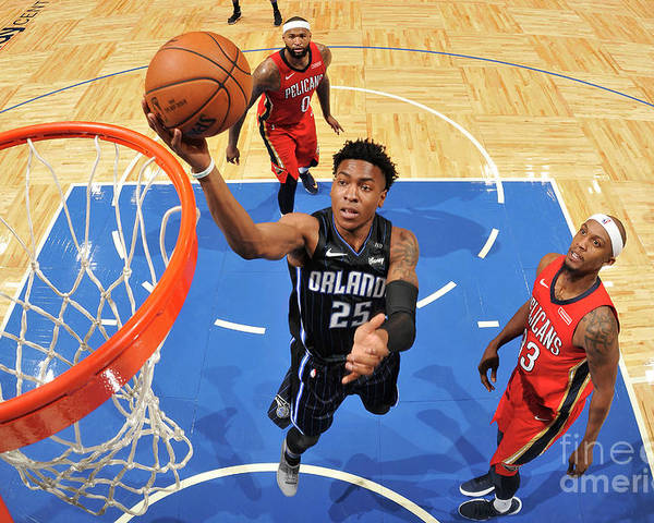 Nba Pro Basketball Poster featuring the photograph New Orleans Pelicans V Orlando Magic by Fernando Medina